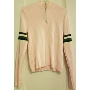Urban Outfitters Ribbed Zip Up Sweatshirt
